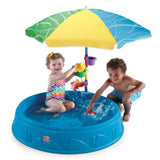 Play & Shade Pool™ - Alberca & Arenero con Sombrilla