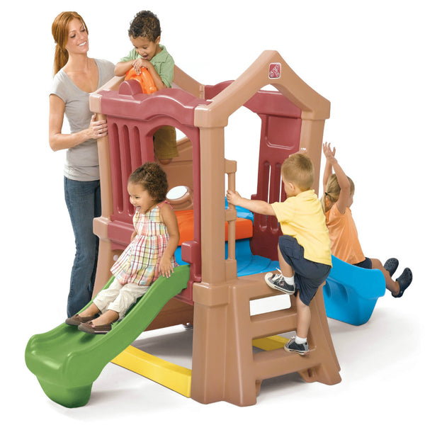Play Up Double Slide Climber™ - Escalador con Dos Resbaladilla