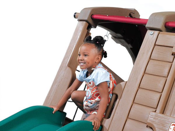 Adventure Lodge Play Center with Glider™ - Centro de Juego con Columpios y Resbaladilla