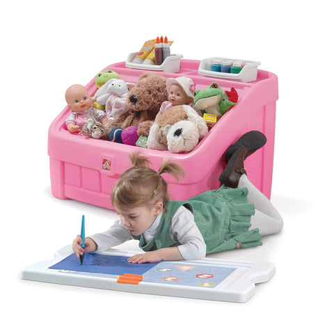 2-in-1 Toy Box & Art Lid™ Pink - Juguetero & Tapa Creativa Rosa