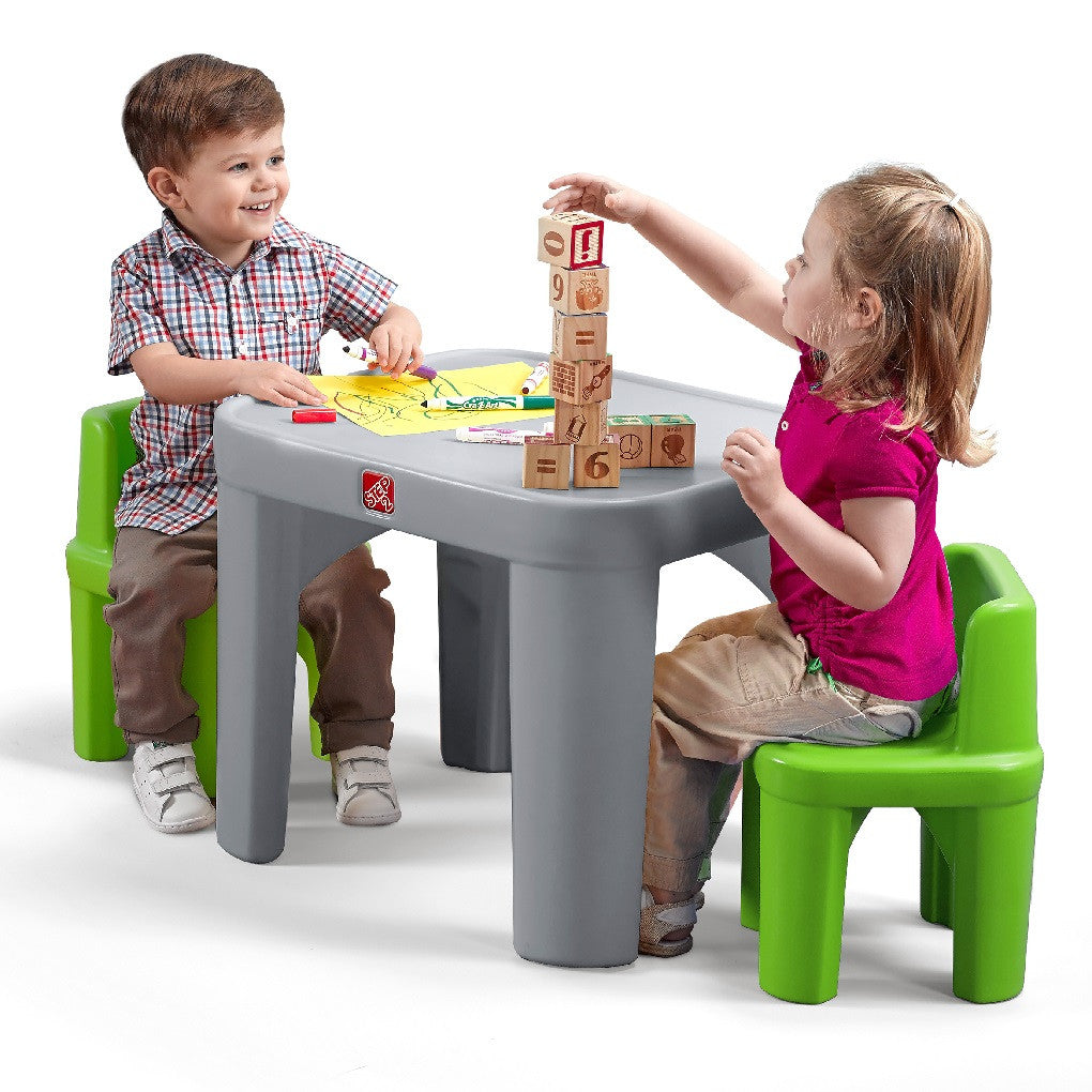 Mighty My Size Table & Chairs Set - Mesa + 2 Sillas