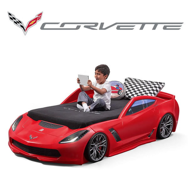 Corvette®Z06 Toddler to Twin Bed with Lights - Nueva Cama Corvette® Z06