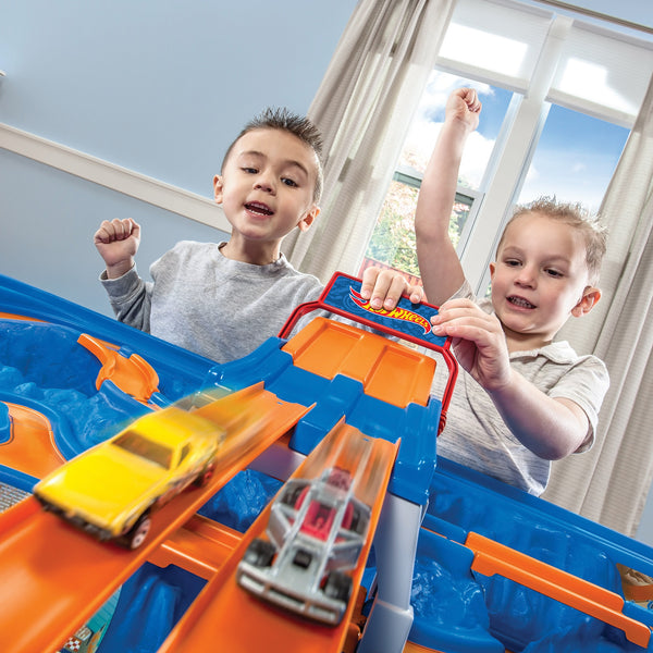 Hot Wheels Car & Track Play Table - Mesa Autos & Pista Hot Wheels