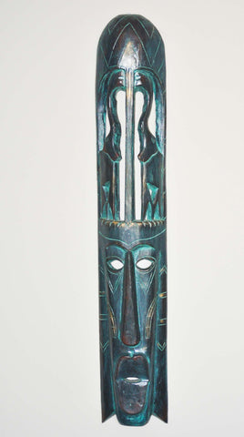 Wooden African Wall Mask - ChocolateSister