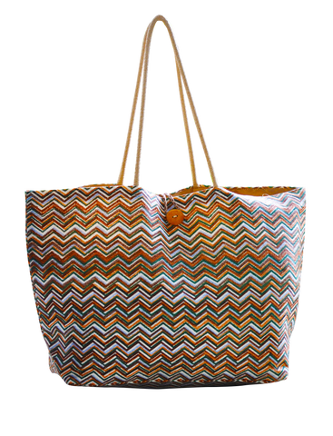 Chevron Print tote - ChocolateSister