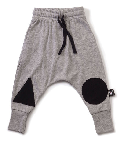 patch baggy pants/ heather grey [product type] [product vendor]- four the boys