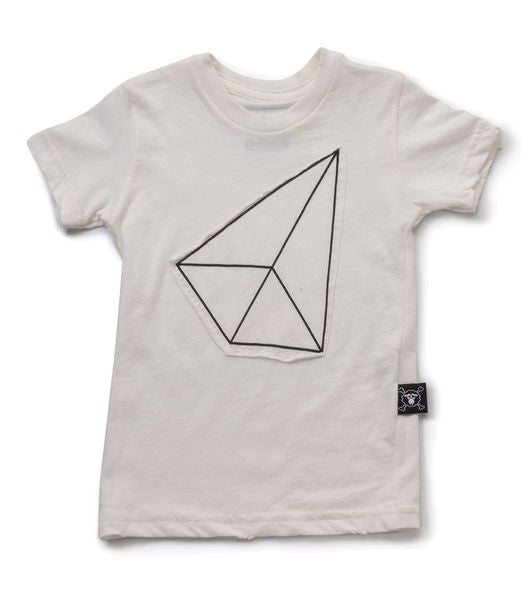 geometric patch t-shirt/ white [product type] [product vendor]- four the boys