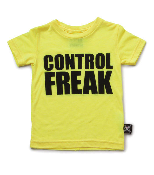 control freak T/ neon yellow [product type] [product vendor]- four the boys