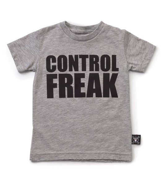 control freak T/ heather grey [product type] [product vendor]- four the boys