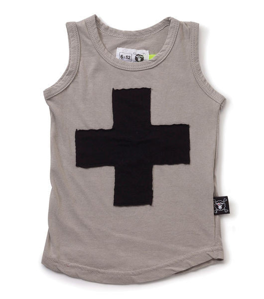 plus patch tank top/ light grey [product type] [product vendor]- four the boys