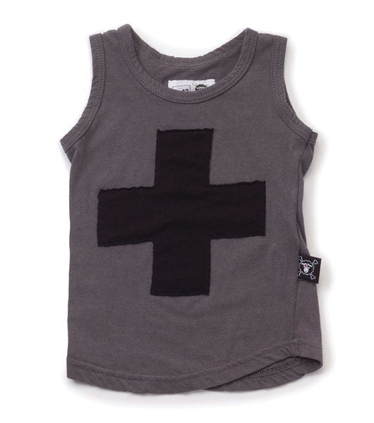 plus patch tank top/ dark grey [product type] [product vendor]- four the boys