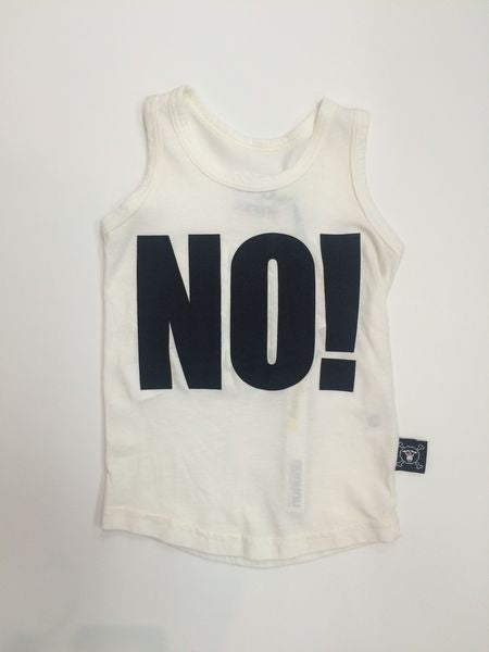 No! tank top/ white [product type] [product vendor]- four the boys