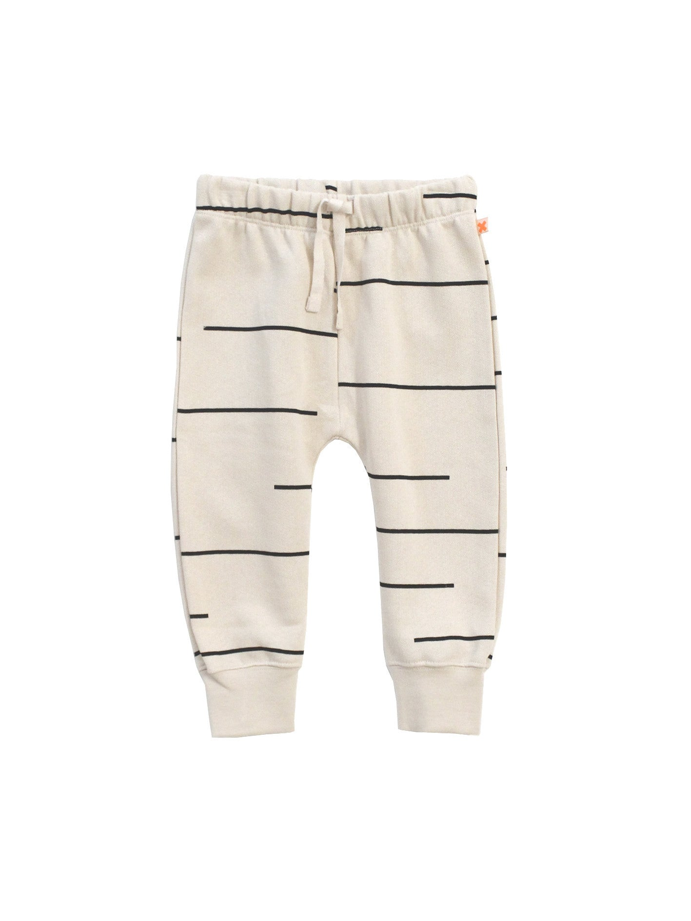 lines fleece sweatpants/ beige