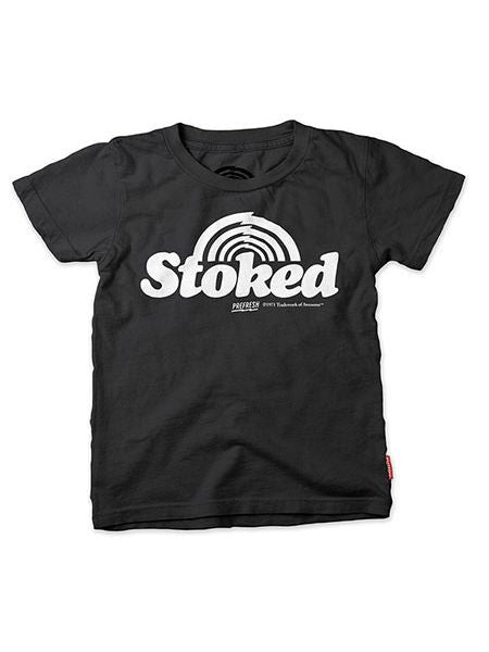 "vintage soft ""stoked"" tee/ black [product type] [product vendor]- four the boys"