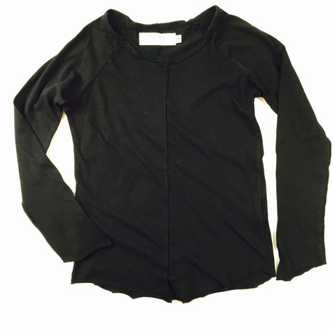 Long sleeve crew/ black