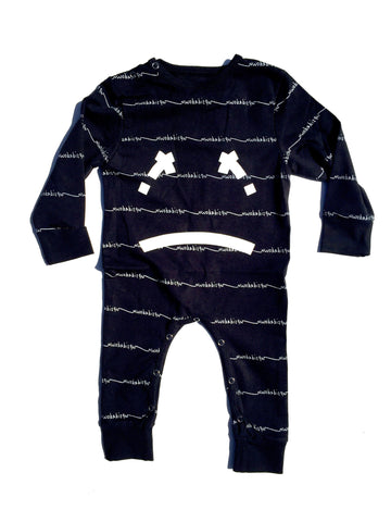 lael playsuit / black with white [product type] [product vendor]- four the boys