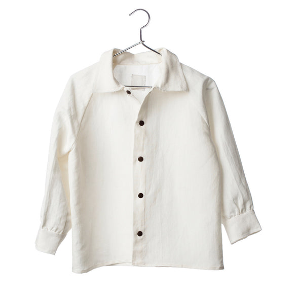 retro shirt/ soft white linen