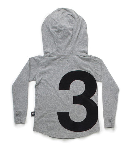 numbered ninja shirt/ heather grey