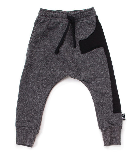 puffy numbered baggy pants/ heather