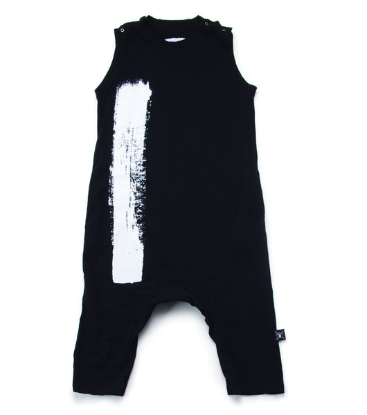 brush stroke overalls/ black