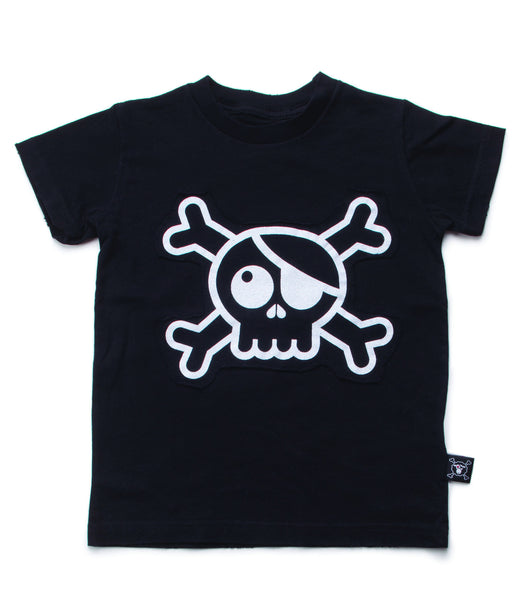 SKULL PATCH T-SHIRT/ BLACK