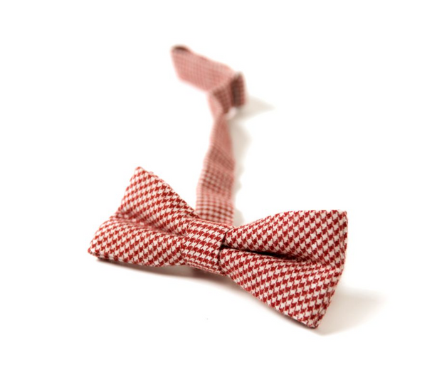 bow tie/ red houndstooth