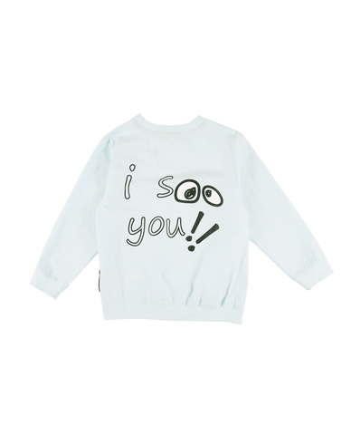 Loud Apparel aubrey pale blue sweatshirt