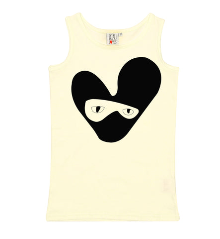 bandit love heart Vest/ pale yellow [product type] [product vendor]- four the boys