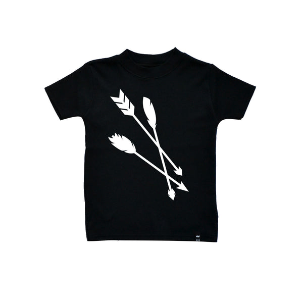 Arrows Tee / Black [product type] [product vendor]- four the boys