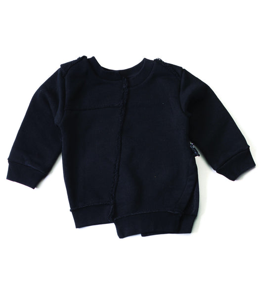 quilt pullover / black [product type] [product vendor]- four the boys