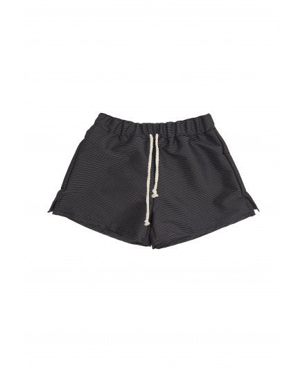 retro swim trunks/ black