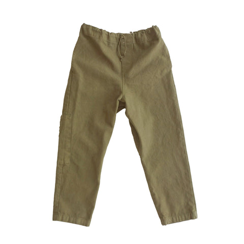 rowe canvas drawstring pant /walnut [product type] [product vendor]- four the boys