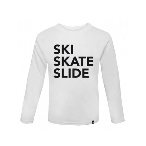 Ski Skate Slide  long sleeve / white