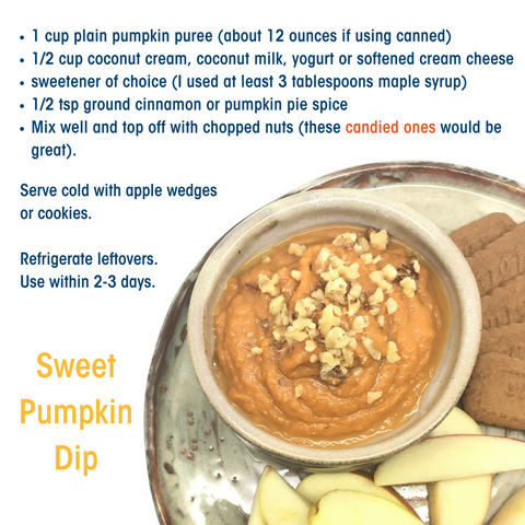 Rachel's Plan Bee Pumpkin Dip