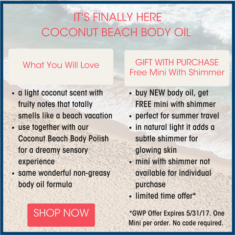 Coconut Beach Body Oil Is Here!