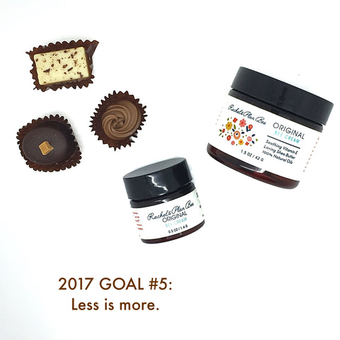 Rachel's Plan Bee 2017 Goal #5 Less Is More