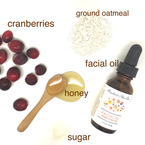 Rachel's Plan Bee DIY Cranberry Mask