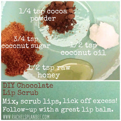 Rachel's Plan Bee DIY Chocolate Lip Scrub