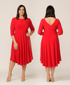 Stella reversible dress in red