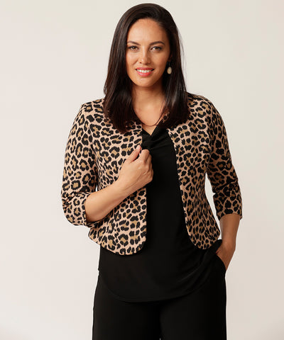 sahara leopard print jacket perfect for the work and weekend