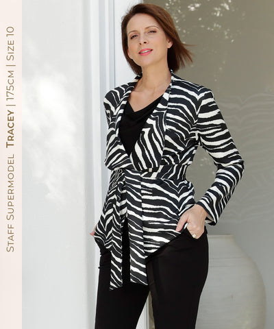 luxurious zebra print statement jacket
