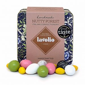 Lavolio Italian boutique confectionery Nutty Forest Medley of nuts and chocolate William Morris collection