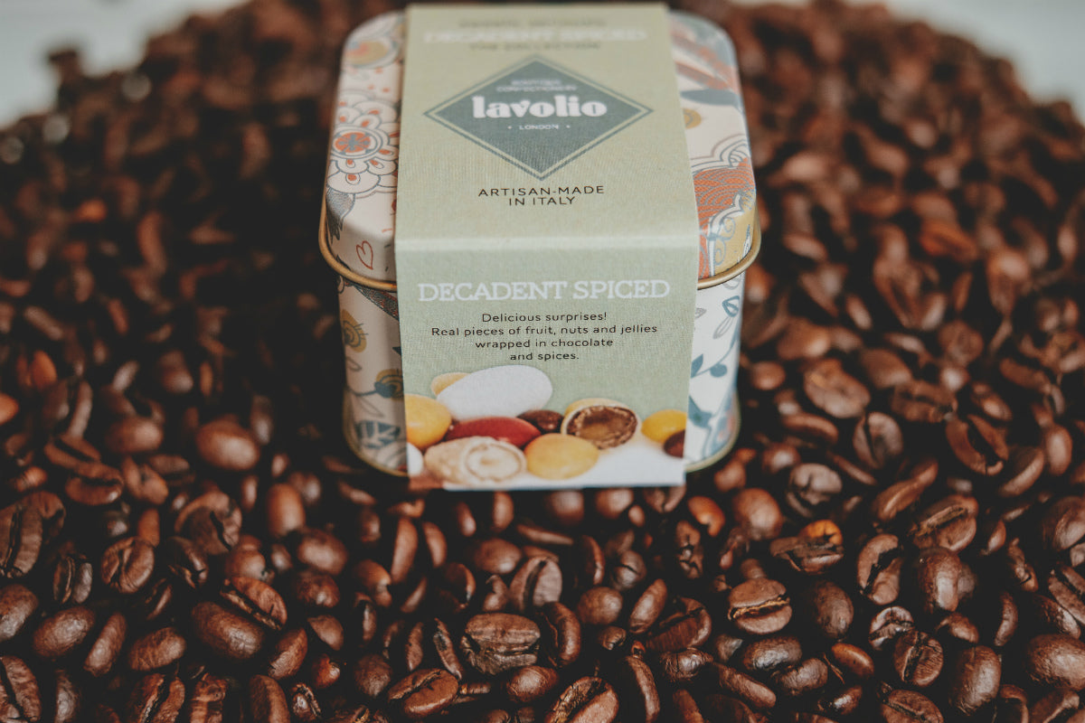 Lavolio confectionery london recycle tin in the kitchen coffee beans