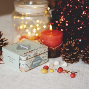 lavolio decadent spiced christmas table and lit candle