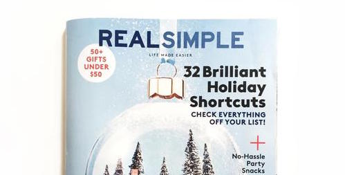 Real Simple December //  Featuring Happy Spritz