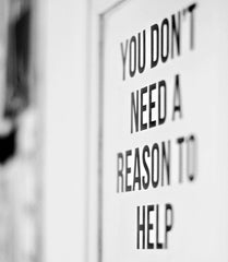 you don't need a reason to help | Happy Spritz