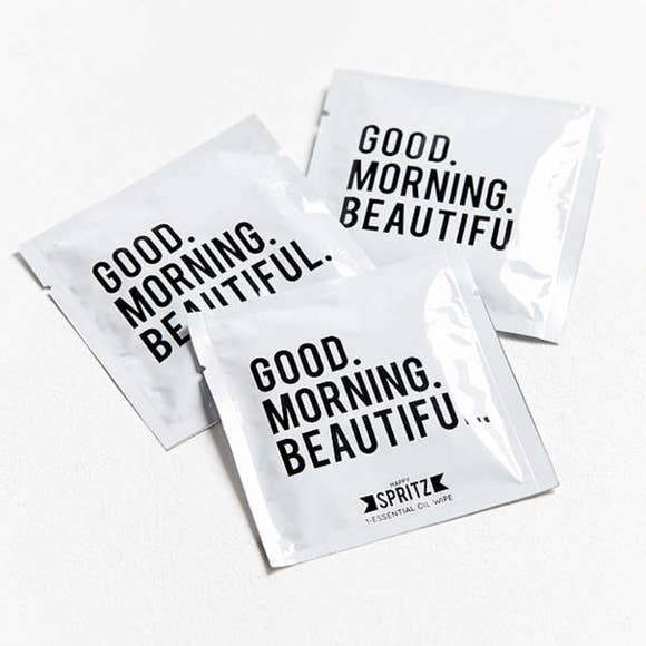 Good Morning Beautiful Essential Oil Towelette by Happy Spritz