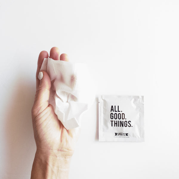 All Good Things Hand Sanitizing Towelette by Happy Spritz