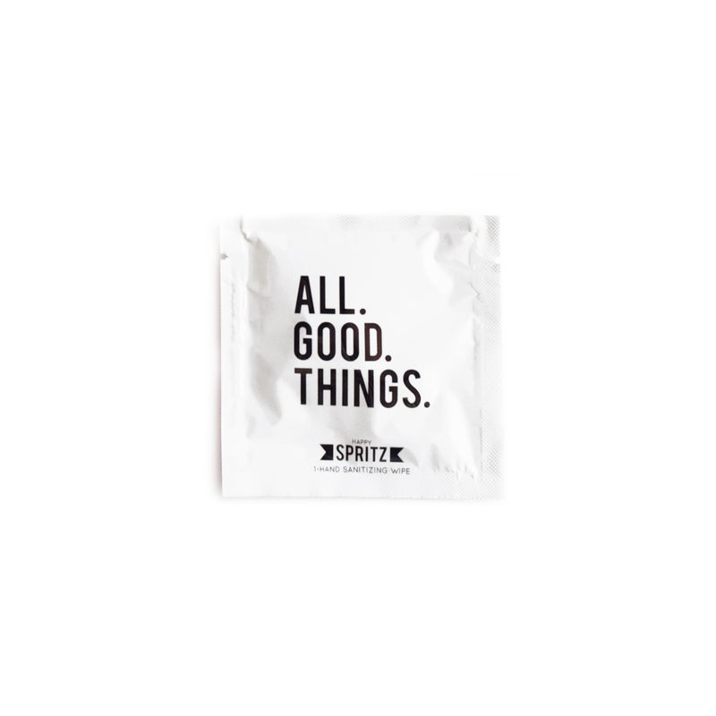 All Good Things Hand Sanitizing Wipe by Happy Spritz
