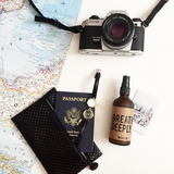 Essential Oils for long flights - Happy Spritz Breathe Deeply